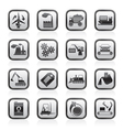 different kind of business and industry icons vector image