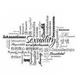 Sexuality word cloud vector image