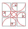 Golden section formes pattern vector image