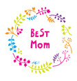 Happy mothers day card bright spring concept vector