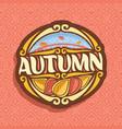 logo for autumn season vector image