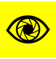 eye on a yellow background vector image