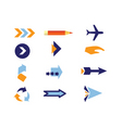 direction icons vector image