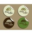 Set of unusual brand identity - dream coffee vector image