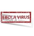 EBOLA VIRUS outlined stamp vector image