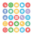 Design and Development Icons 3 vector image