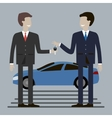 Businessman Buying Car vector image vector image