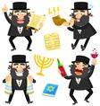 cartoon rabbis vector image