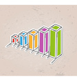 color sketch of the bar chart vector image