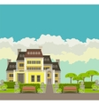 Country house vector image