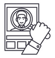 cvhuman resourcespersonal line icon sign vector image