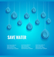 eco design template save the water poster blue vector image