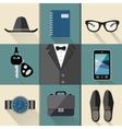 Gentleman business suit set vector image