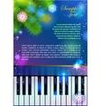 New Year Piano vector image