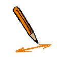 pencil and arrows vector image