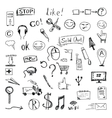 set of hand drawn icons and design elements vector image