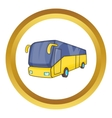 Yellow tourist bus icon vector image