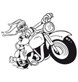 Motorized Easter Bunny vector image