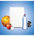 paper sport vector image