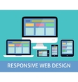 Responsive web design concept vector image vector image