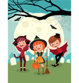 Children on Halloween party vector image