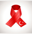 Turkey Flag Ribbon vector image vector image