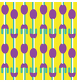 Seamless Fork and Spoon pattern vector image