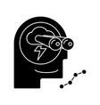 brainstorm - forecast - vision icon vector image