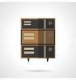 Bread oven flat color design icon vector image