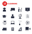 E-Learning Icons vector image