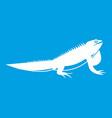 iguana icon white vector image