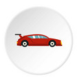 red car icon circle vector image