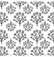 pattern plant with multiple flowers vector image