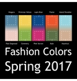 Blurred fashion infographic with trendy colors of vector image