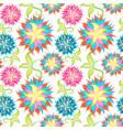 spring or summer flowers pattern floral vector image