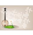 Musical Dan Nguyet Background vector image vector image