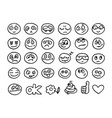 emoticon doodles set vector image vector image