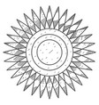 stylized sun disk with sharp rays coloring vector image