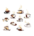 Coffee cups set vector image vector image