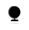 globe of the world black vector image
