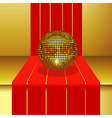 Disco ball on 3D Step vector image