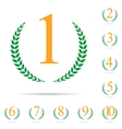 From First to Ten Place Laurel Design Label Set vector image