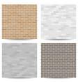 brick wall seamless pattern set vector image