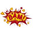 cartoon - bam vector image