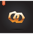 gold icon vector image