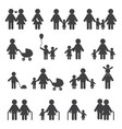 happy family grandfather grandmother and people vector image
