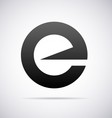 Logo for letter E vector image