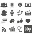 Media Social Network Icons vector image