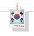 photo of south korea flag on white background vector image