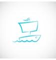 Sailing Boat Hand Drawn Symbol Icon or Logo vector image